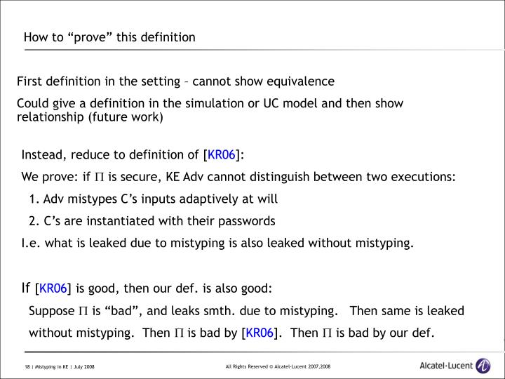 """How to """"prove"""" this definition"""