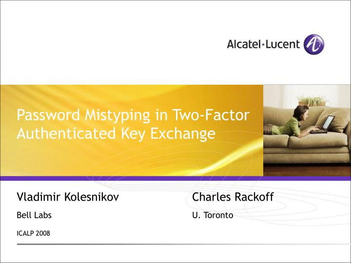 password mistyping in two factor authenticated key exchange