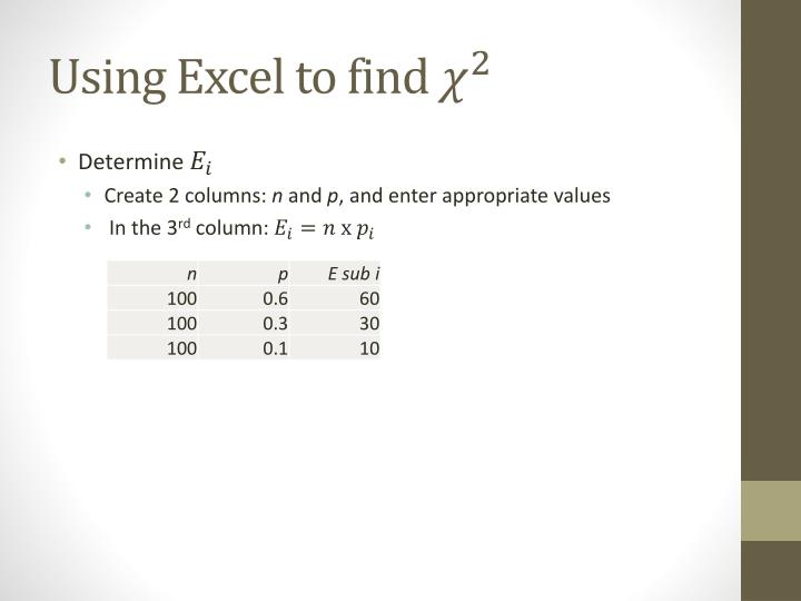 Using Excel to find