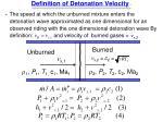 definition of detonation velocity
