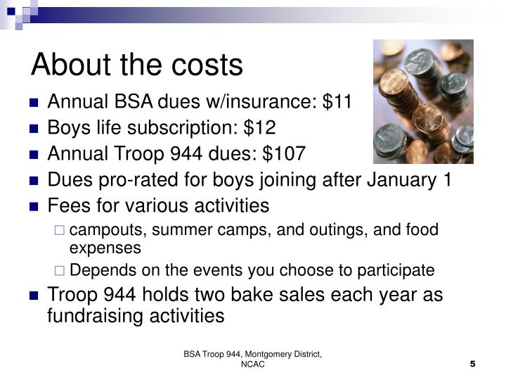 About the costs