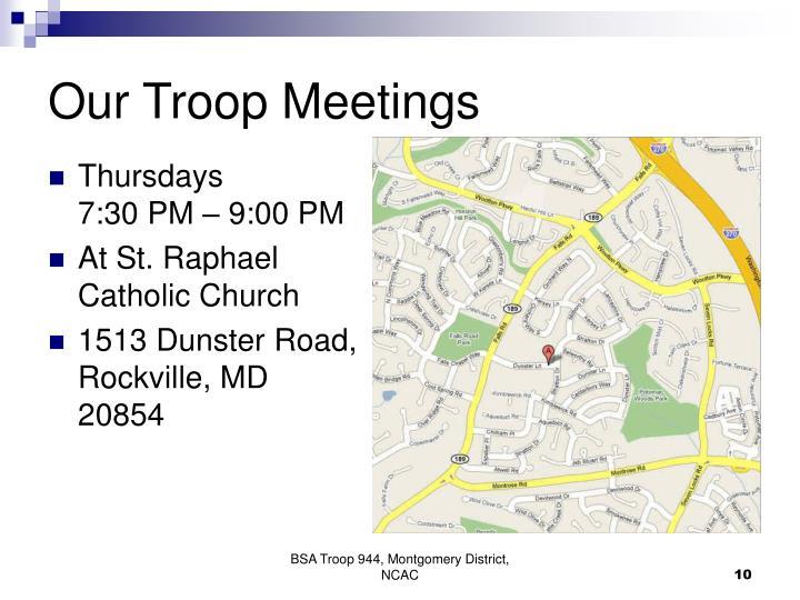 Our Troop Meetings