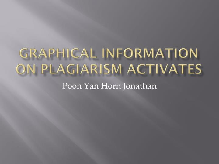 graphical information on plagiarism activates