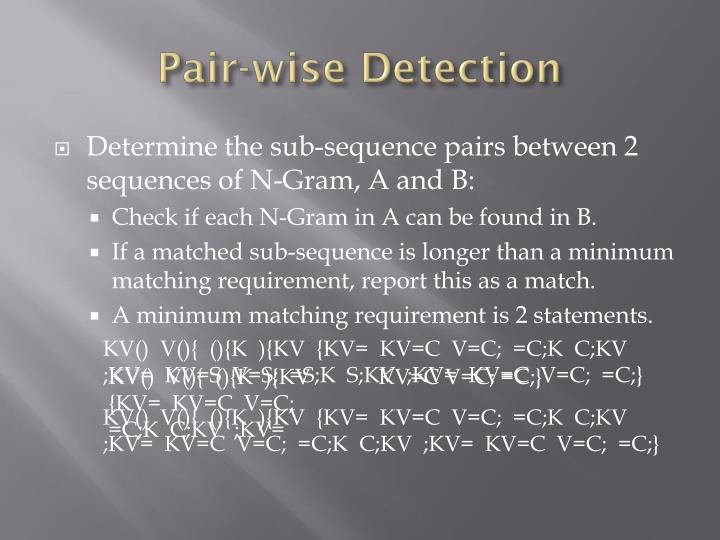 Pair-wise Detection