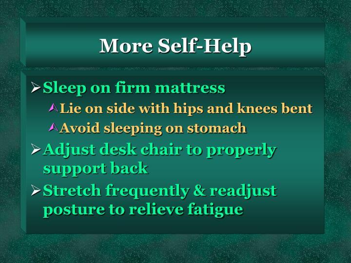 More Self-Help