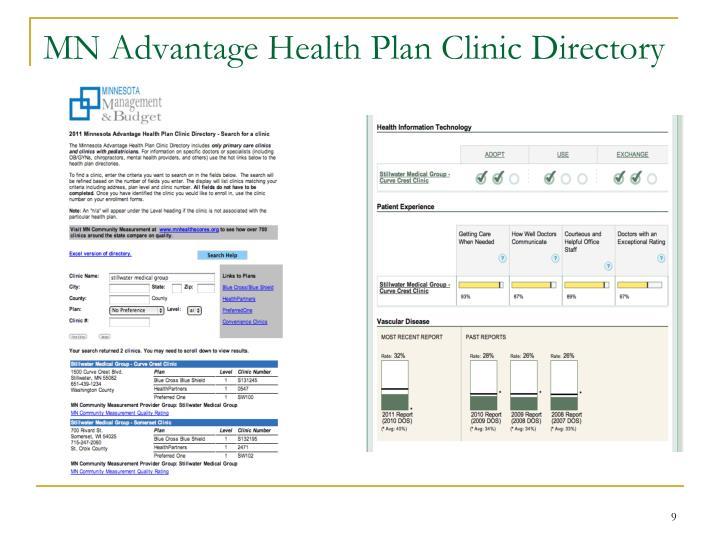 MN Advantage Health Plan Clinic Directory