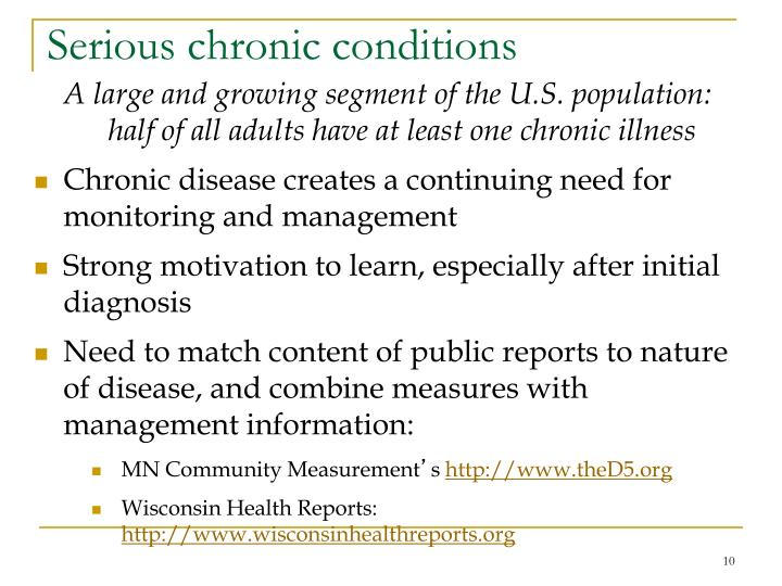 Serious chronic conditions