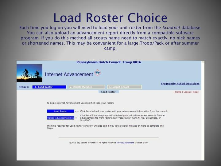 Load Roster Choice