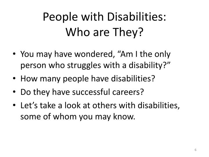 People with Disabilities: