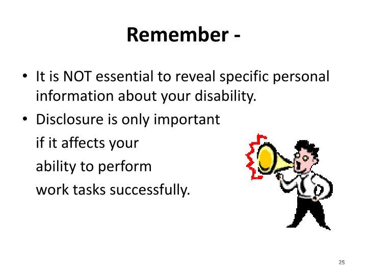 Remember -