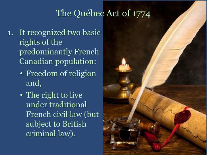 The Québec Act of 1774