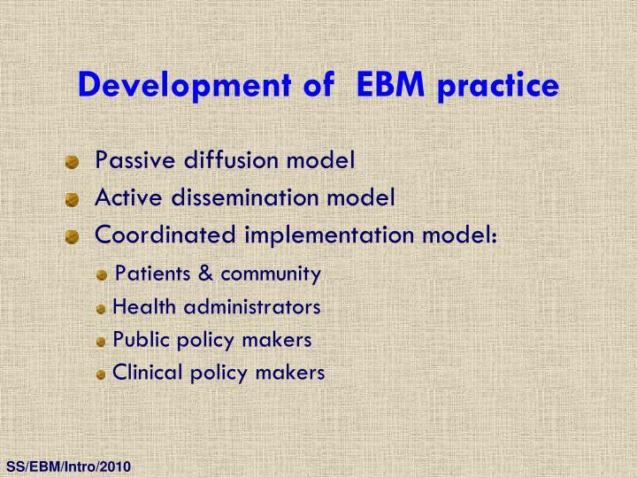 Development of  EBM practice