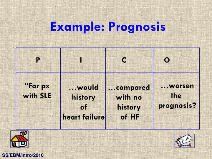 Example: Prognosis