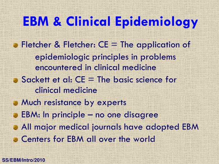 EBM & Clinical Epidemiology