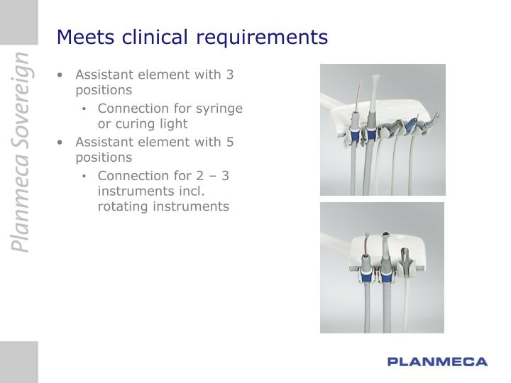 Meets clinical requirements