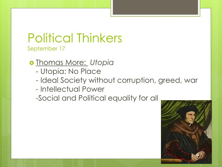 Political Thinkers