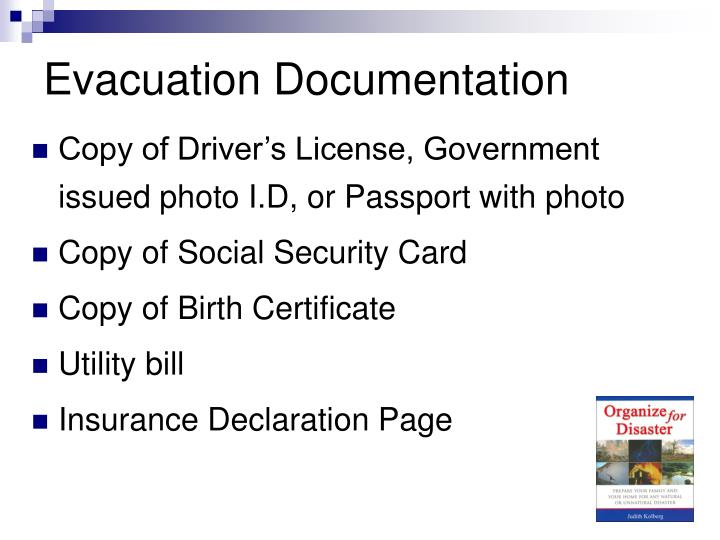 Evacuation Documentation