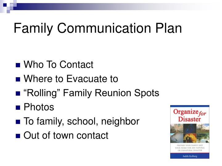 Family Communication Plan