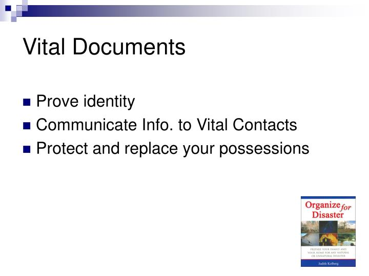 Vital Documents