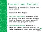 connect and recruit