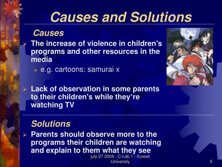 A Solution To Violent Crime-Parental Guidance Suggested