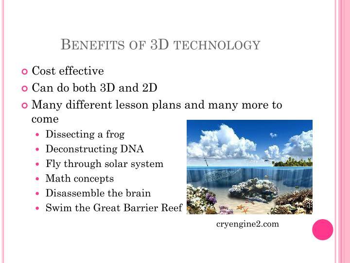 Benefits of 3D technology