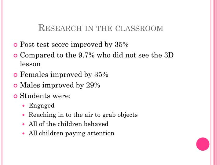 Research in the classroom