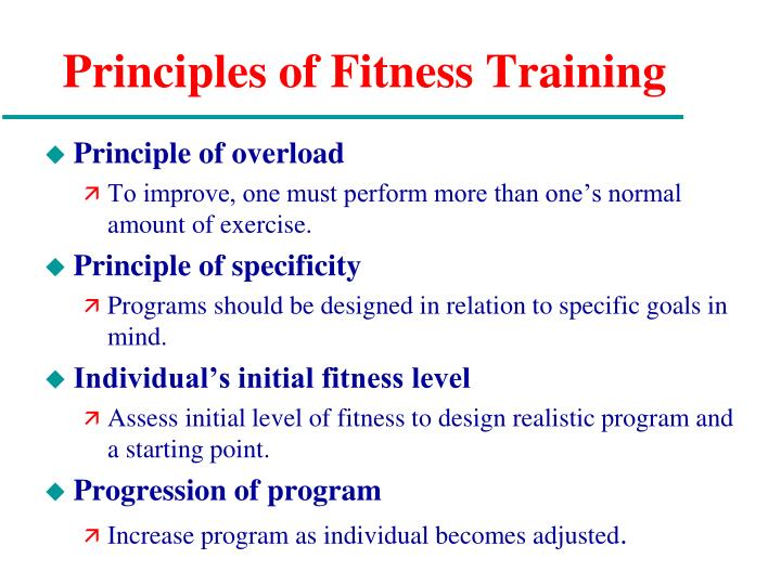 Principles of Fitness Training