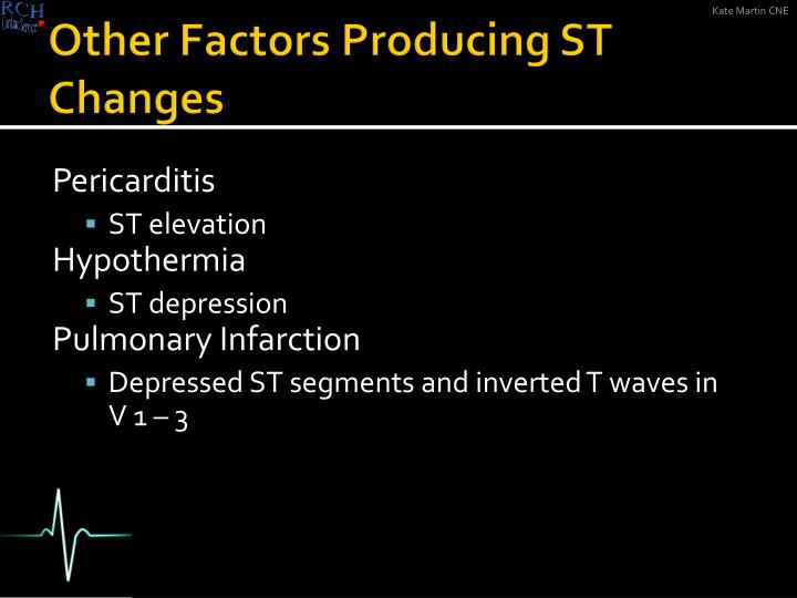 Other Factors Producing ST Changes