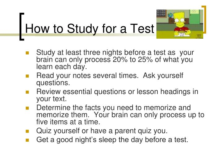 How to Study for a Test