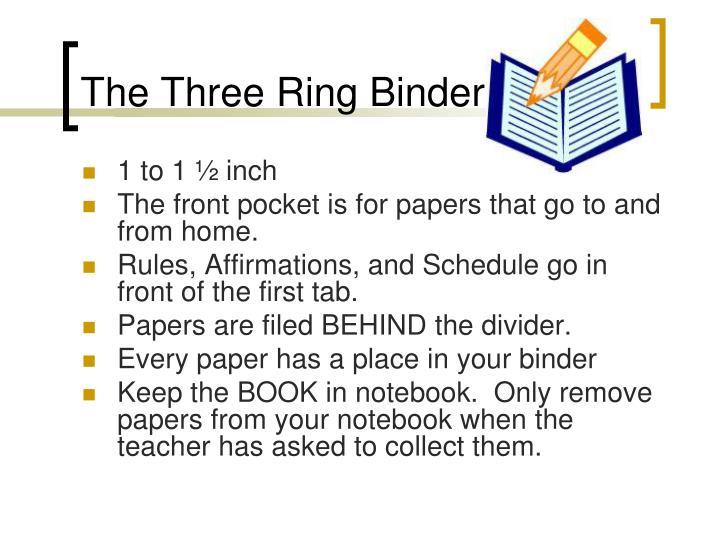 The Three Ring Binder