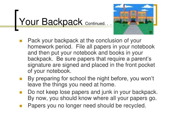 Your Backpack