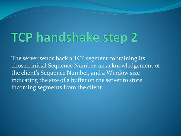 TCP handshake step 2