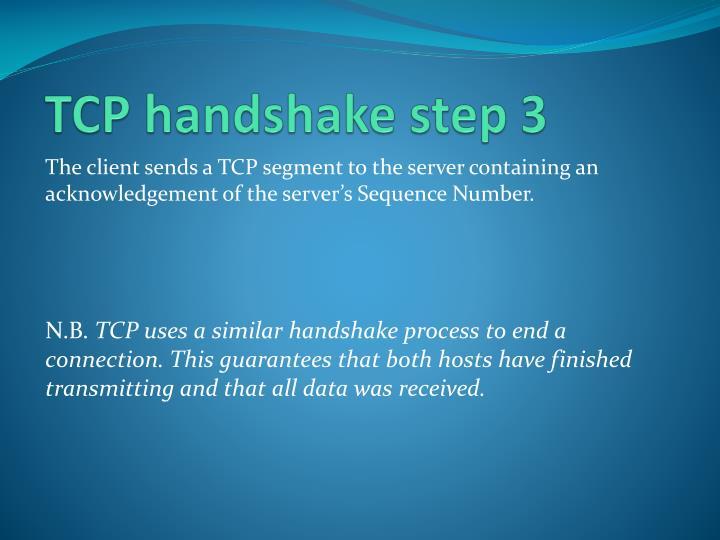 TCP handshake step 3