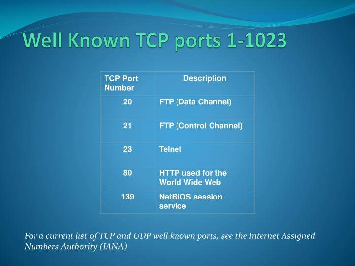 TCP Port Number