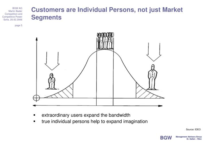 Customers are Individual Persons, not just Market Segments