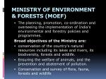 ministry of environment forests moef