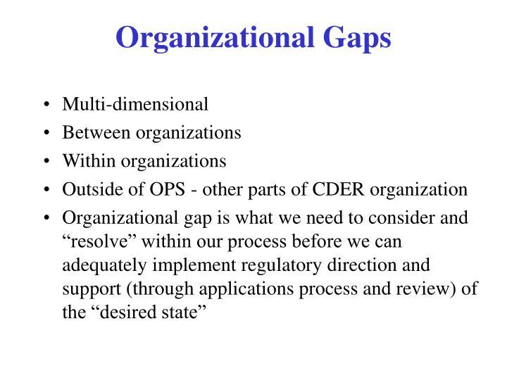 Organizational Gaps