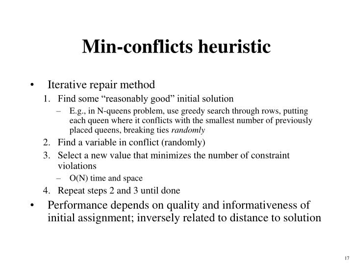 Min-conflicts heuristic