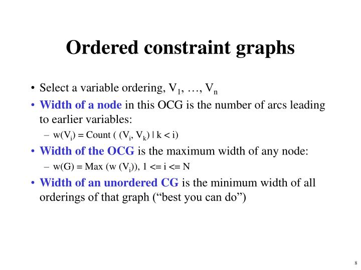 Ordered constraint graphs