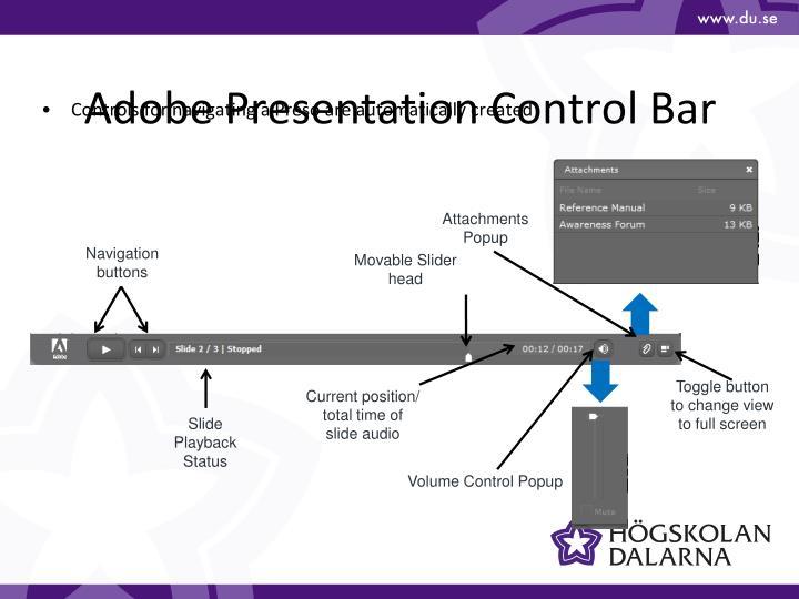 Adobe Presentation Control Bar