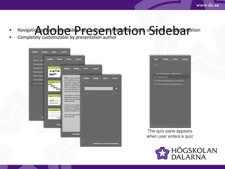 Adobe Presentation Sidebar