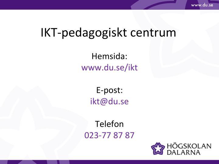 IKT-pedagogiskt centrum