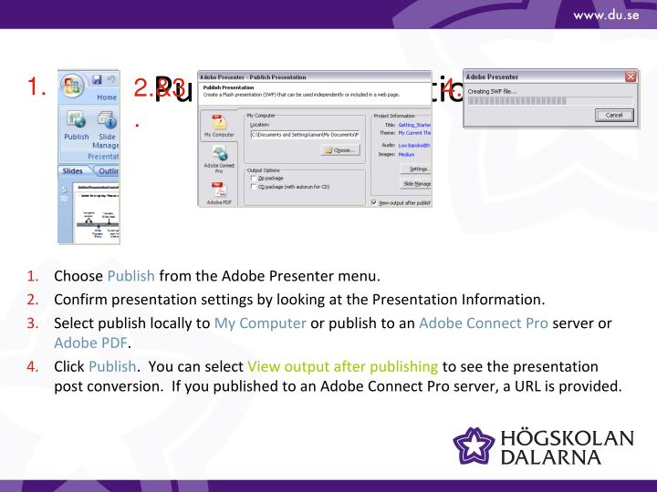 Publish Presentations