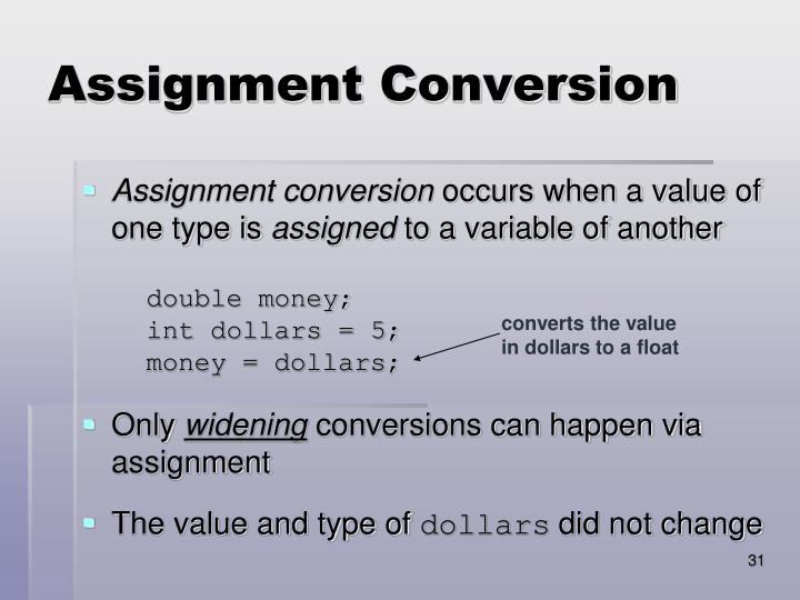 Assignment Conversion