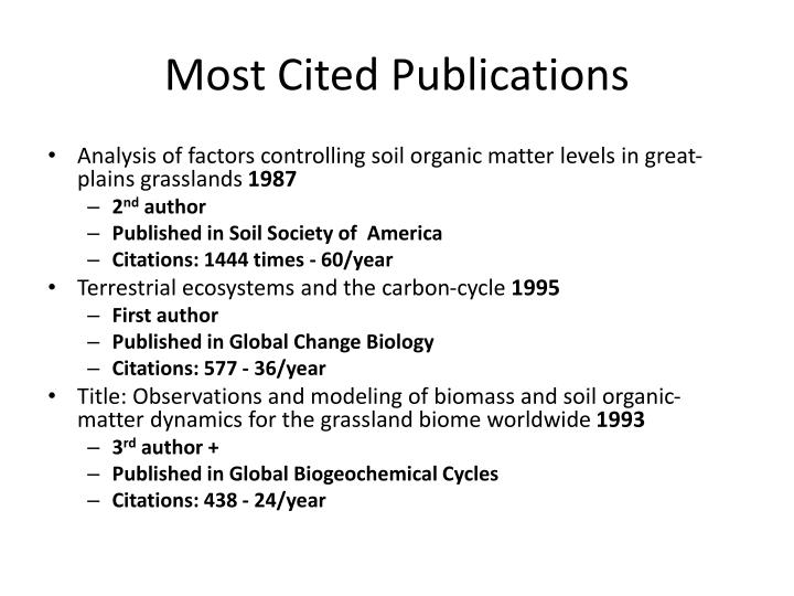 Most Cited Publications