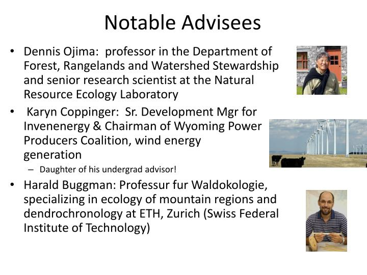 Notable Advisees