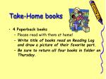 take home books