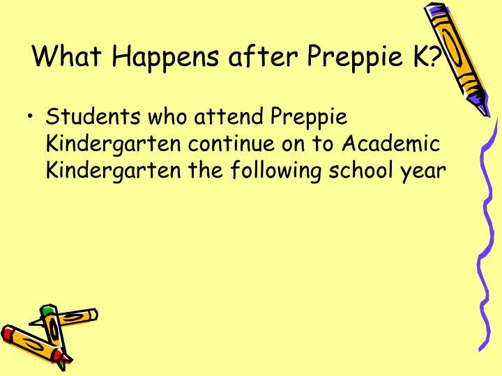 What Happens after Preppie K?