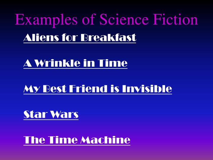 Examples of Science Fiction